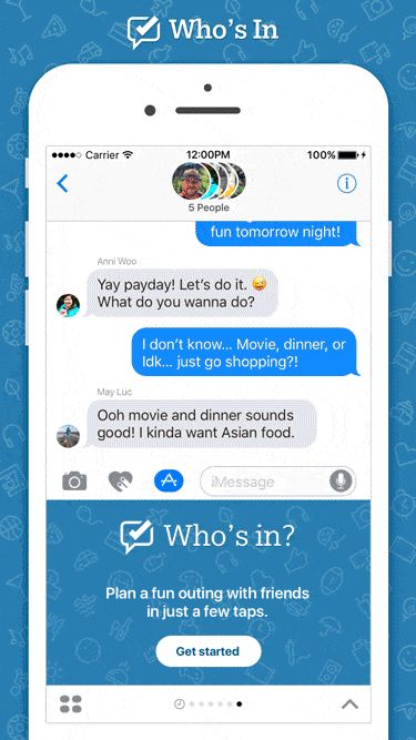Bing Launches Cross-platform Whos In iMessage App Helping You Plan A Fun Event With Friends