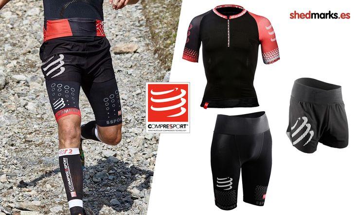 Camiseta, mallas y pantalones de la marca Comprssport para trail running http://www.shedmarks.es/42_compressport