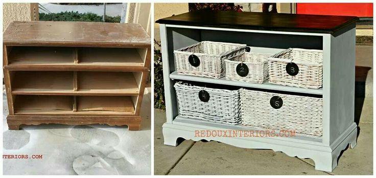 Redone dresser with broken drawers