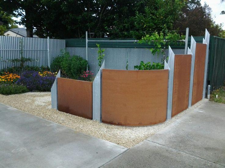 Mark's Corten Garden Fence 1