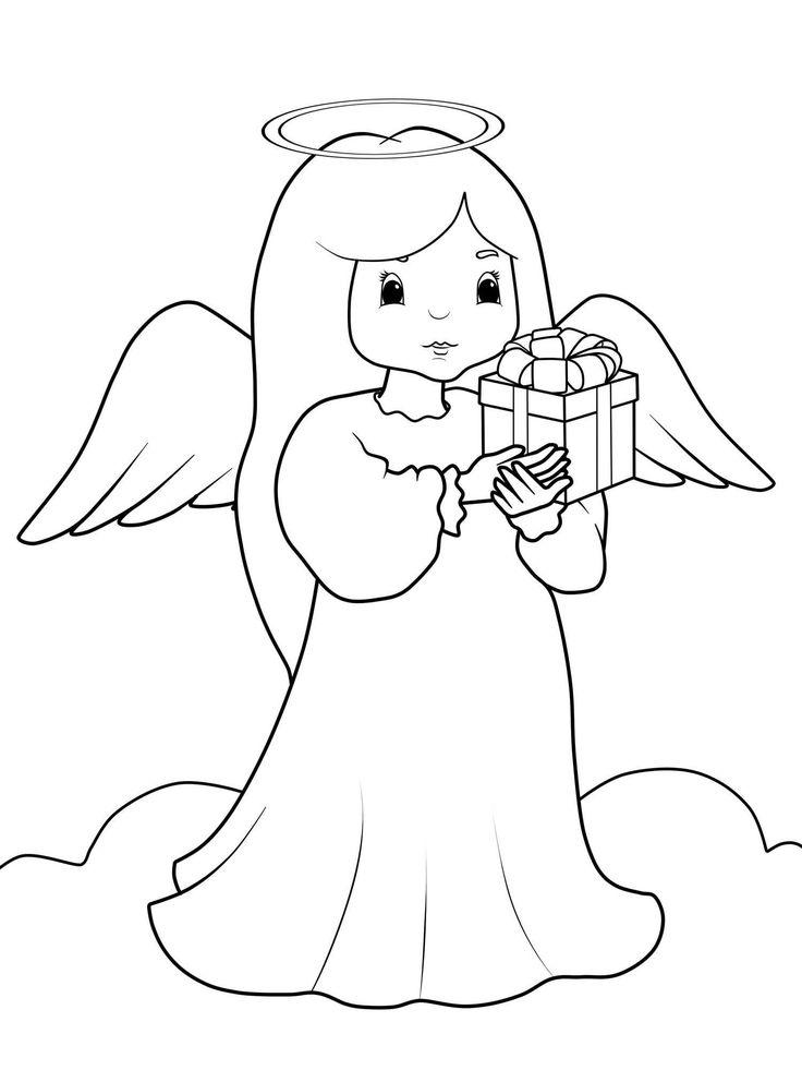 Weihnachten engel malvorlagen Christmas drawing Bear