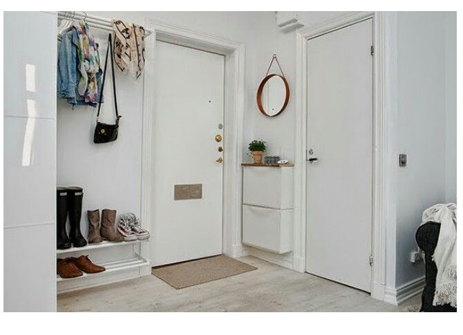 ikea trones for skinny entryway