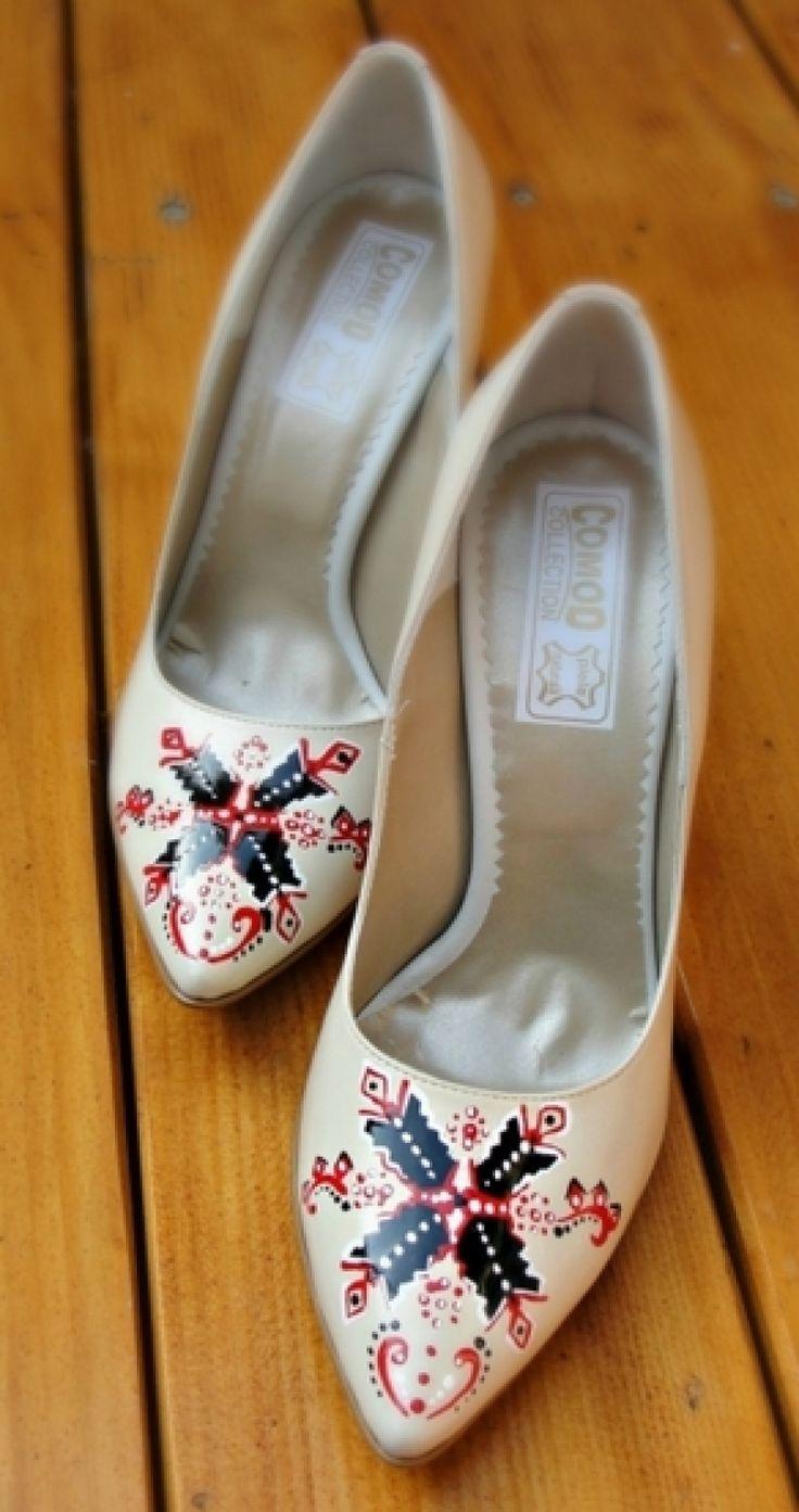 Pantofi+pictati+pentru+nunta