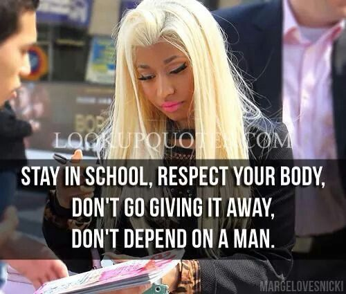 Nicki Minaj Quotes About Relationships: $$ Thatz Gangsta $$