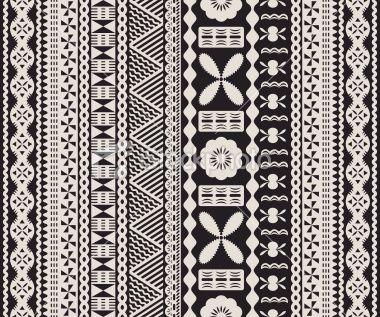 Fijian tapa pattern. Royalty Free Stock Vector Art Illustration