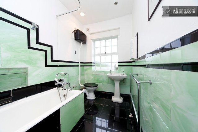 Bathroom with original art deco tiling