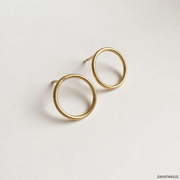 kolczyki - inne-Golden Hoop Earrings
