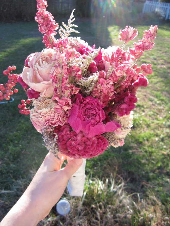 Naturally Dried Flowers Bridal Bouquet