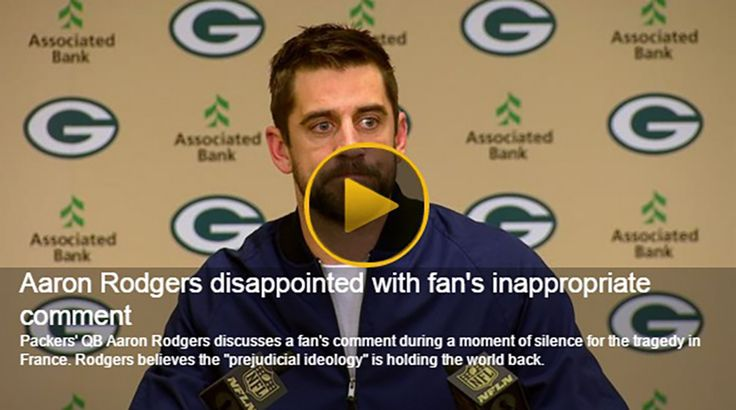 Aaron Rodgers and his Green Bay Packers didn't win their game today against the Detroit Lions, 18-16, but he won the day by utterly denouncing a fan's racist anti-Muslim rhetoric during…
