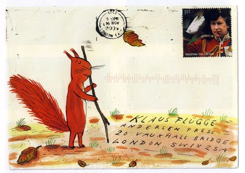 It's a bit of a tradition in the children's book industry that illustrators often send in post to their publishers with a little something drawn on the front of the envelopes they use. I first became aware of this tradition when I worked at Scholastic and Alison Green, who's published Axel Scheffler's and Julia Donnaldson's picture books over the years, showed me her extensive Axel Scheffler envelope collection. I was indeed wide eye'd with envy. Here are a few envelopes from other…