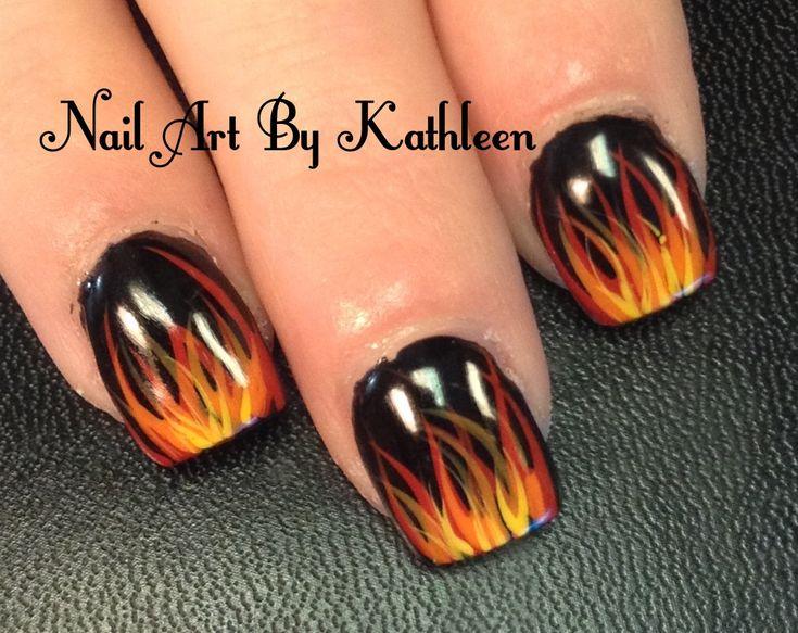 Fire Nails #nails #nailart #fire
