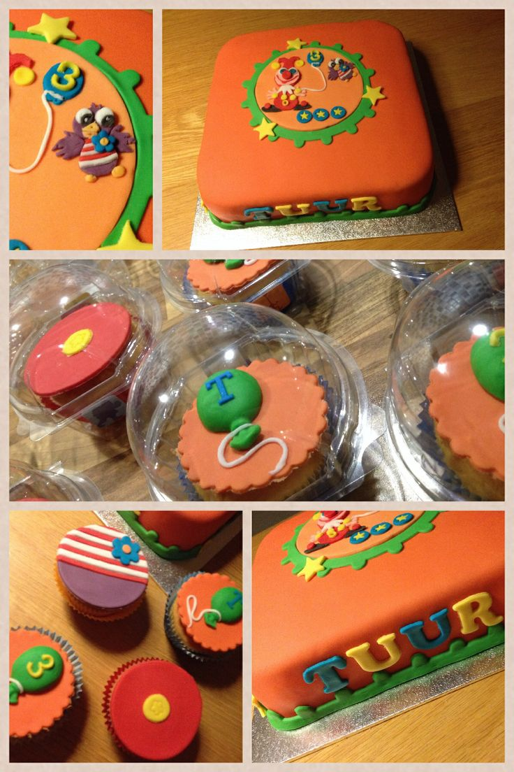 #kindertaart #cupcakes #Jokie #Jet #Efteling #ballonnen #3jaar www.cakesenjoy.blogspot.com