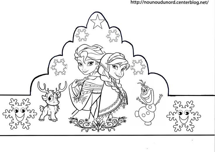 épiphanie voici mes couronnes reine des neiges, cars, winnie, princesses et à gommettes d'autres modèles à imprimer sur mon blog