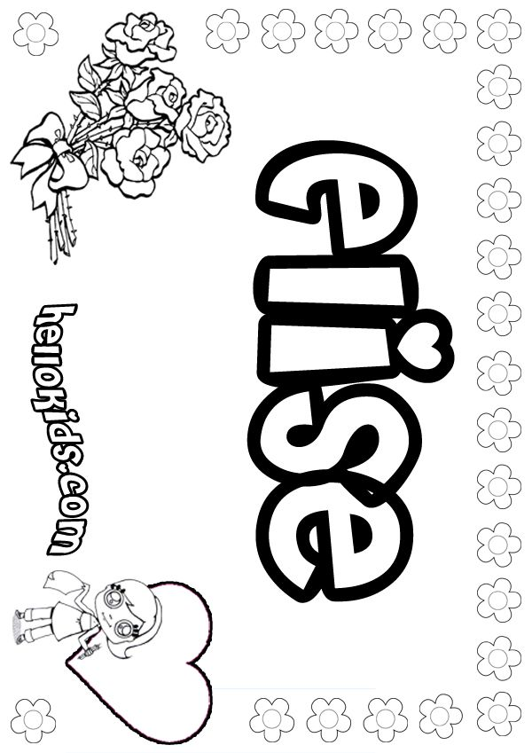 elise coloring page