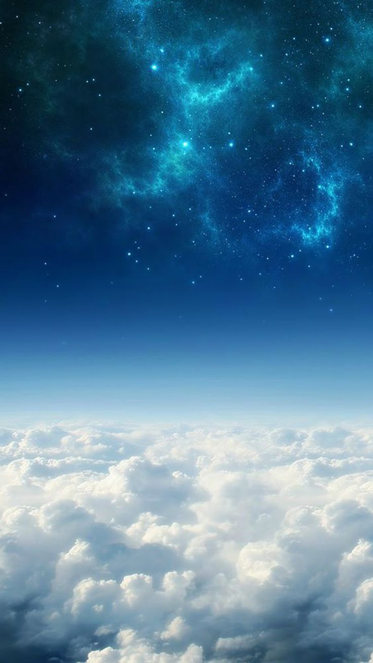 Night sky iphone wallpaper tumblr - Space Above The Clouds Iphone 6 Wallpaper