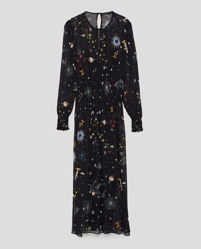PRINTED MIDI DRESS-View all-DRESSES-WOMAN   ZARA United Kingdom