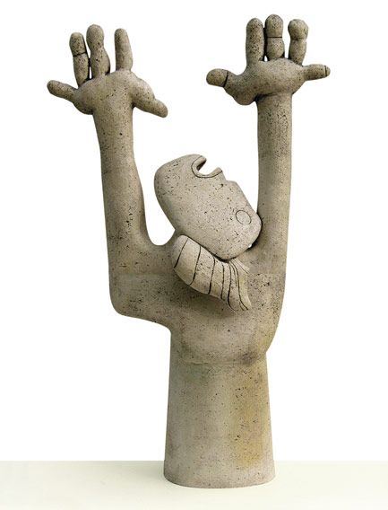 "Stella Zadros, ceramic sculpture- ""Obsession"" from The Picasso Mania series, 2005, in private collection (Italy), 59 x 95 h x 28 cm, www.stellaart.com"