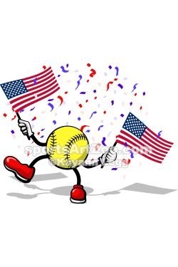 4th of july softball images