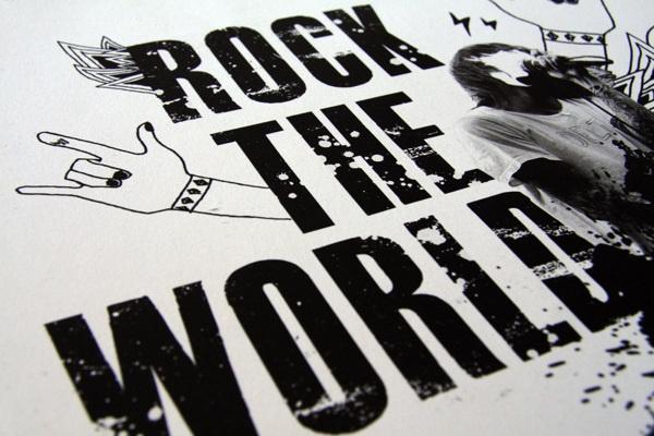 Rock The World by Jun Kim, via Behance