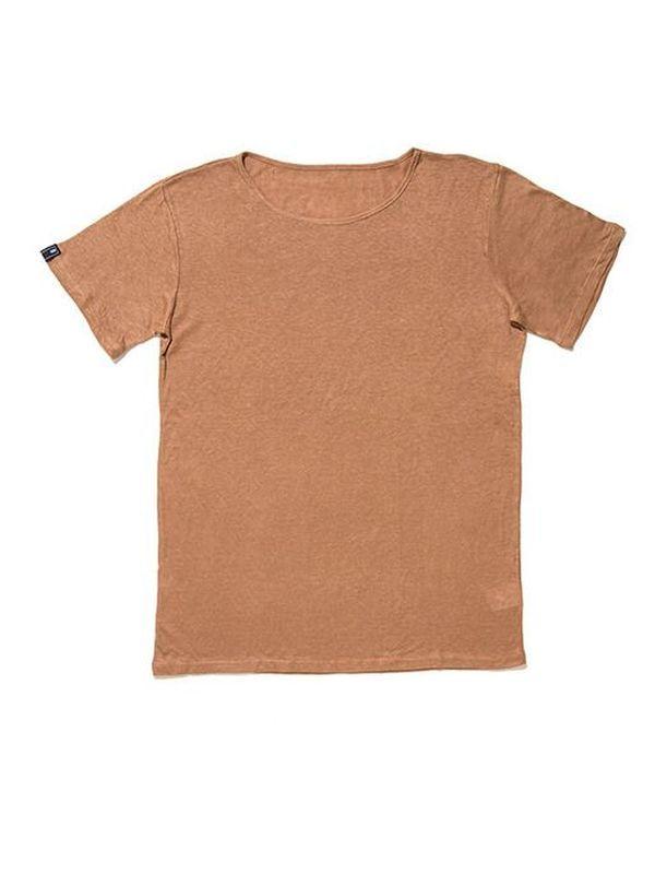 T-Shirt 003 Basic Brown | T-Shirt em algodão.  Gola redonda.  100% algodão.