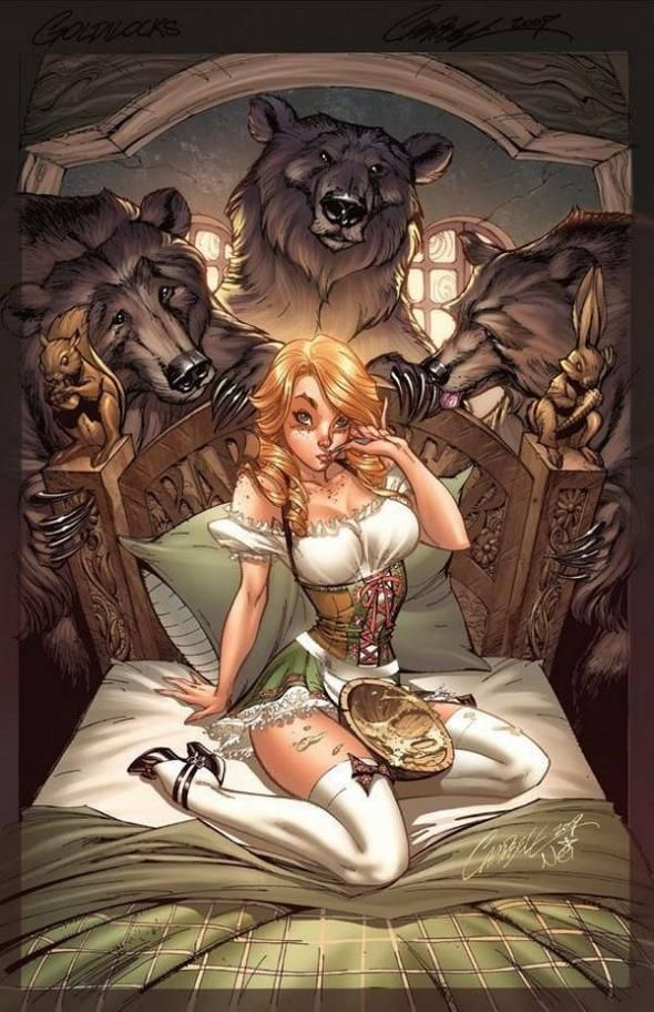 goldilocks and the 3 bears by j scott campbell590 - Fairy Tale Fantasies by Jeffery Scott Campbell  <3 <3