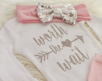 newborn HOSPITAL Outfit newborn girl coming by PinkandBlueBonnets