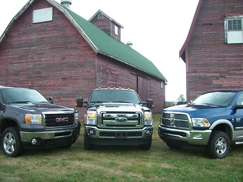 2010 Heavy-Duty Diesel Pickup Comparison Test - Diesel Pickup Truck Comparison Review - Popular Mechanics