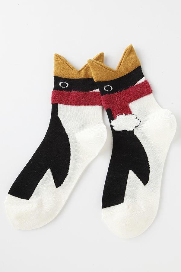 毛混かみつきマフラーペンギンソックス: 靴下 通販 | チュチュアンナ公式オンラインストア - tutuanna