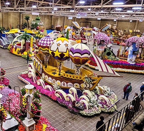 Rose Bowl Parade Float Decorating. The rose bowl is a family tradition for us. My childhood memories are filled with bundling up and getting our seats for the best smelling parade in town lol