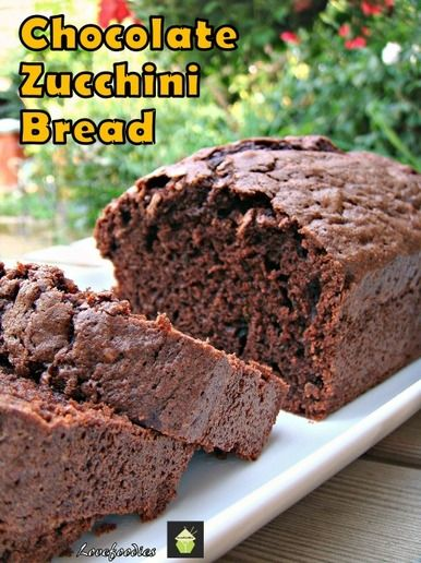 Moist Chocolate Zucchini Bread a family fave that is great for breakfast or snacks! @lovefoodies #bread #homemade