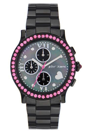 Betsey Johnson 'Bling Bling Time' Bracelet Watch | Nordstrom