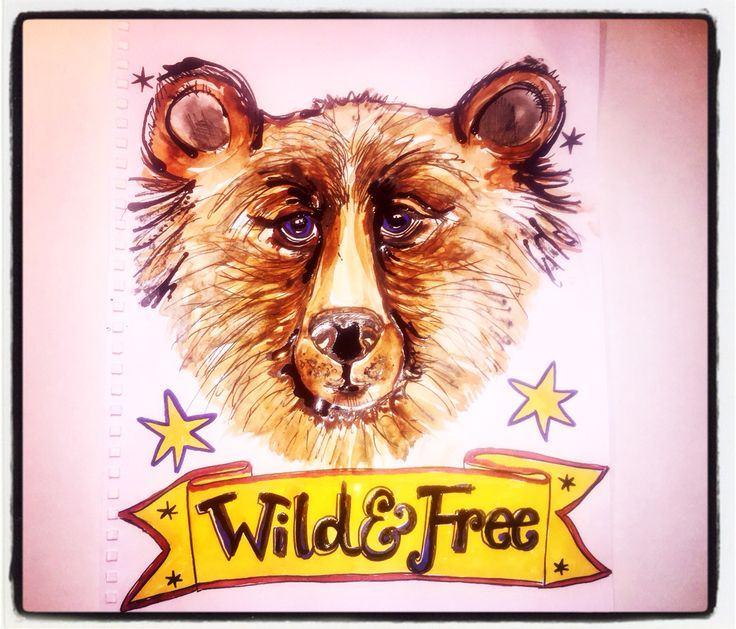 Wild and Free illustration by Lizzie Reakes