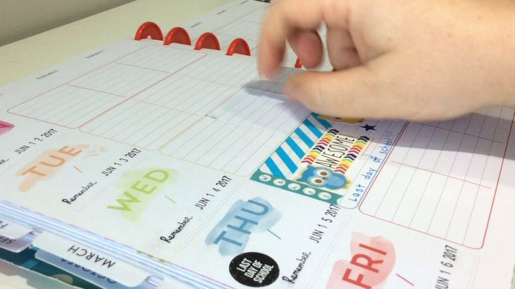 Happy Planner Teacher Edition and 2017-2018 Erin Condren Teacher Planner Cover-Up Stickers