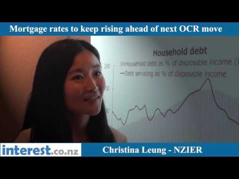 Mortgage rates to keep rising as OCR remains on hold, NZIER says; House prices may not fall far as population growth boosts demand and supply struggles to keep pace | interest.co.nz
