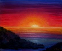 oil pastel drawings | Bling-Kin-Eck: Sunset painting