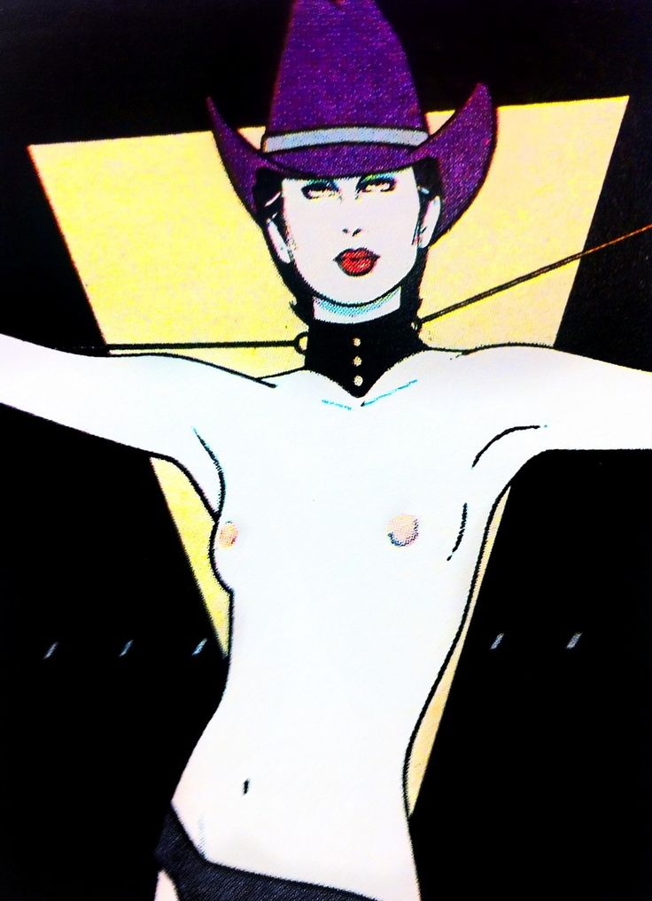 Purple Western Cowboy Hat - Patrick Nagel