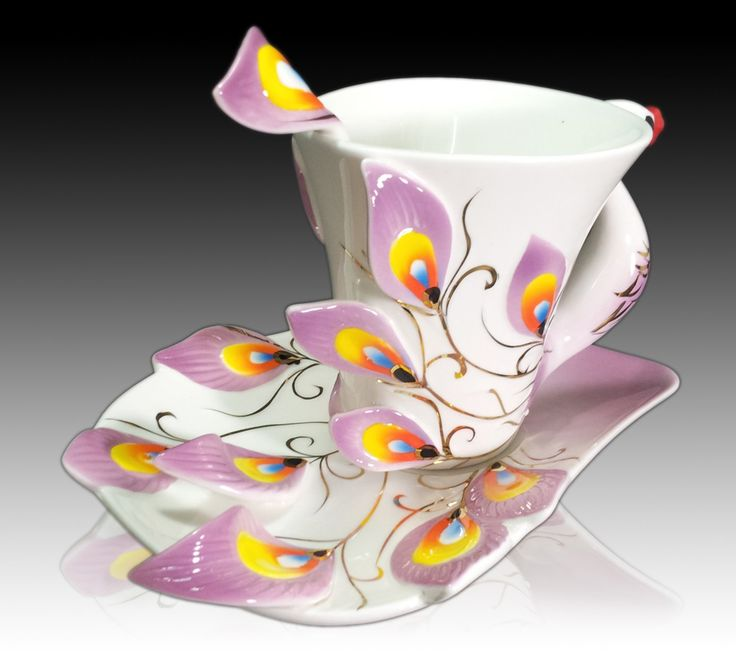 Painted Couple Peacock Wedding Gifts Unique Delicate Home: 88 Best PEACOCK Tableware Tea Sets Images On Pinterest