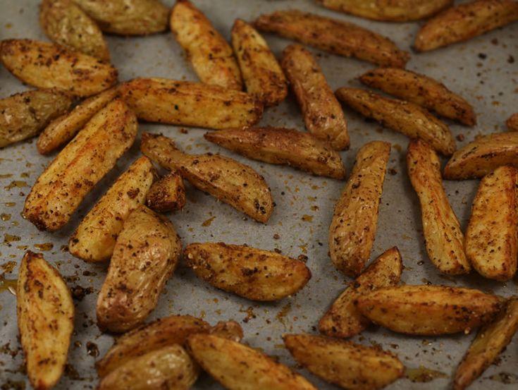 Cartofi+wedges+cu+coriandru+si+piper+negru