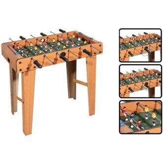 Masa de #foosball este realizata din lemn, dispune de 6 bare metalice cu manere din plastic cu care jucatorii pot incepe adevarate campionate de #fotbal.