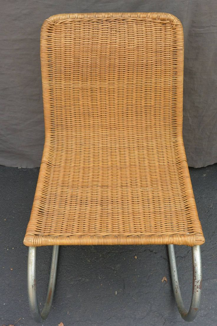 Mart Stam Wicker Dining Chairs