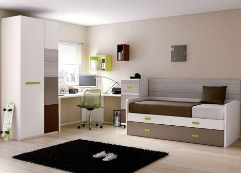 dormitorio-juvenil-con-muebles-de-color-marron