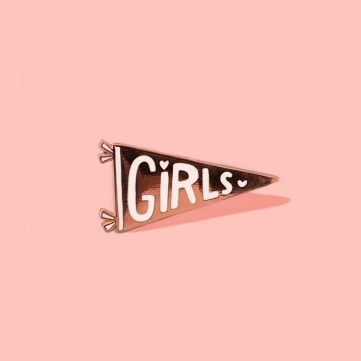 Girls Flag Pin