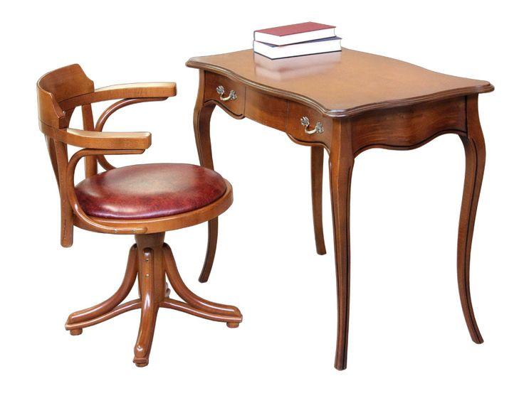 Prancing Horse desk and armchair - ItalianStyle by ArteFerretto. Dimensions: Desk: W 90 x D 52 x H 76 cm Armchair: W 60 x D 52 x H 78 cm