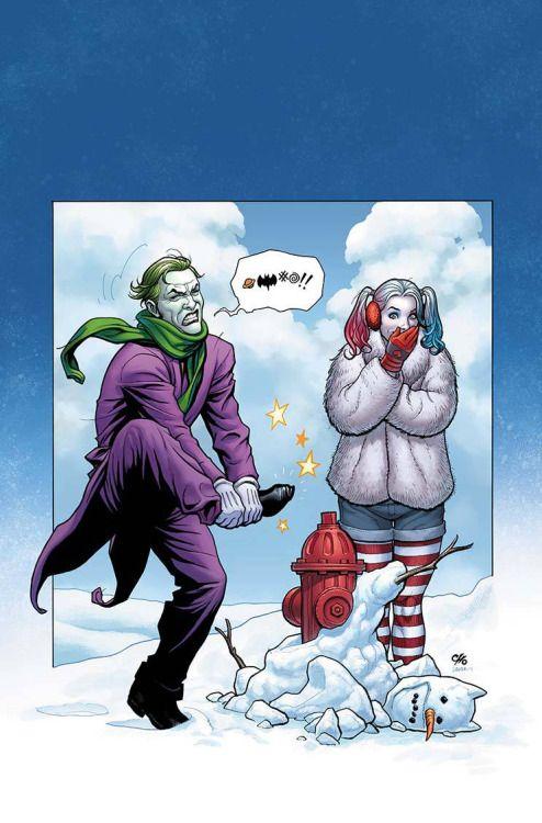 Wintertime Harley & Joker - Frank Cho