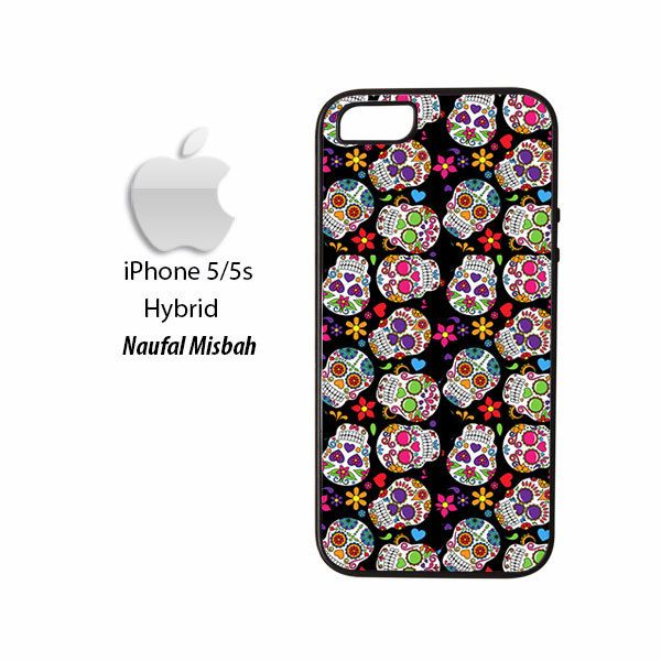 Day of the Dead Sugar Skull Pattern iPhone 5/5s HYBRID Case Cover