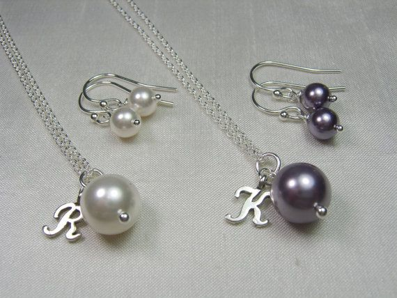 Personalized Bridesmaid Jewelry Gift  Set of 5  by MesmericJewelry, $155.25
