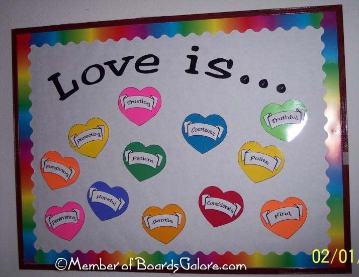 valentine's day bulletin board ideas middle school