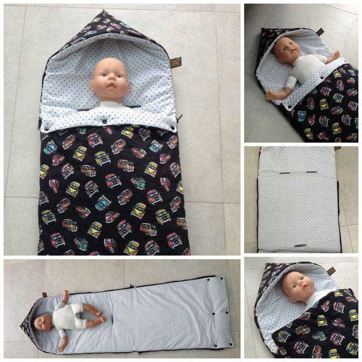 Babynestje met aanpassingen om in de maxi cosi te steken. Tutorial Emma & Mona