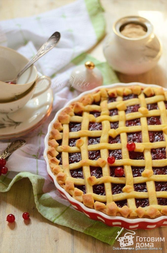 Рецепт Кростата (песочный пирог) с рикоттой и ягодами