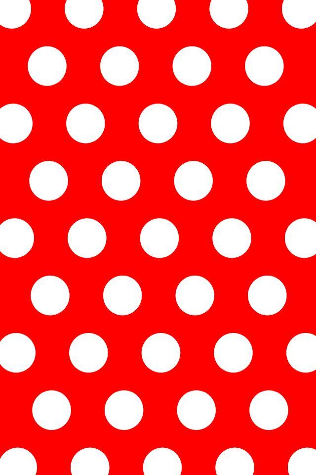 red white dots wallpaper - photo #5
